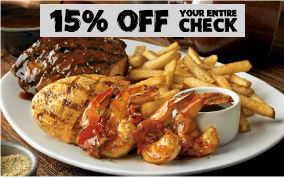 Now Until Thursday, Feb 12th Head Over To Outback Steakhouse Where You Can  Save 15% Off Your Entire Check (excludes Alcohol).