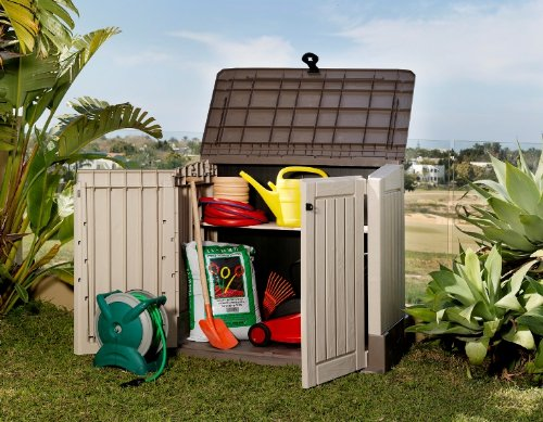 amazon rubbermaid plastic vertical outdoor storage shed. Black Bedroom Furniture Sets. Home Design Ideas
