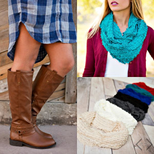 fashion friday boots and scarf
