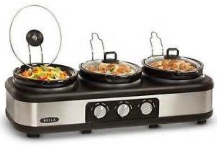 bella triple slow cooker