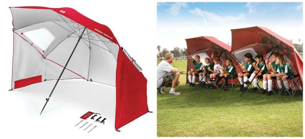 A Beach Umbrella Sun Tent Rain Shelter And More All In One The Sport Brella Gives You Instant Portable Protection From The Elements Regardless Of Your