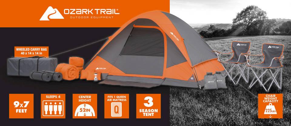 ozark tent bundle & Walmart: Ozark Trail 22-Piece Camping Combo - $109 Shipped (Reg ...
