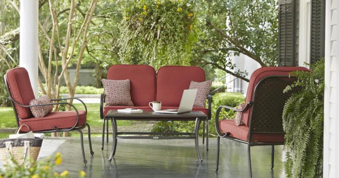 Home Depot 4 Piece Patio Set Just Shipped Reg 499 More Savings Done Simply