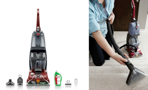 today only you can save 50 off this highlyrated hoover fh50150 carpet basics power scrub deluxe carpet cleaner from amazon