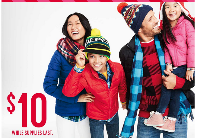 Old Navy Frost Free Jackets For The Family Only 10 In