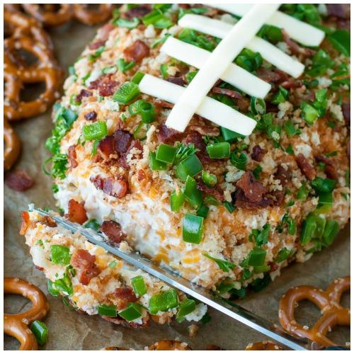 jalapeno popper football cheese ball