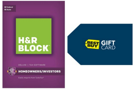 Best Buy: H&R Block Tax Software + $5 Best Buy Gift Card $24.99 ...