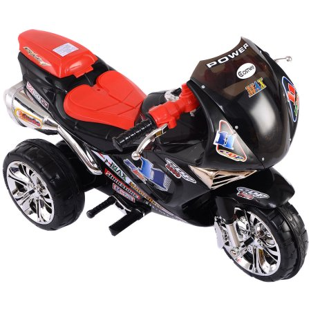 head on over to walmartcom and grab this costway 3 wheel kids ride on motorcycle 6v battery powered electric toy power bicycle for 7398 with free