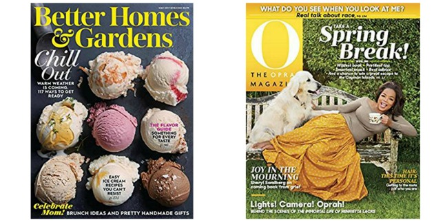 Better Homes Gardens And O The Oprah Magazine One Year Subscription Only 5 Each Savings