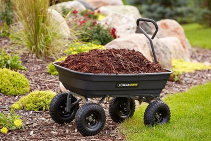 Home Depot Gorilla Carts 600 Lb Poly Garden Dump Cart