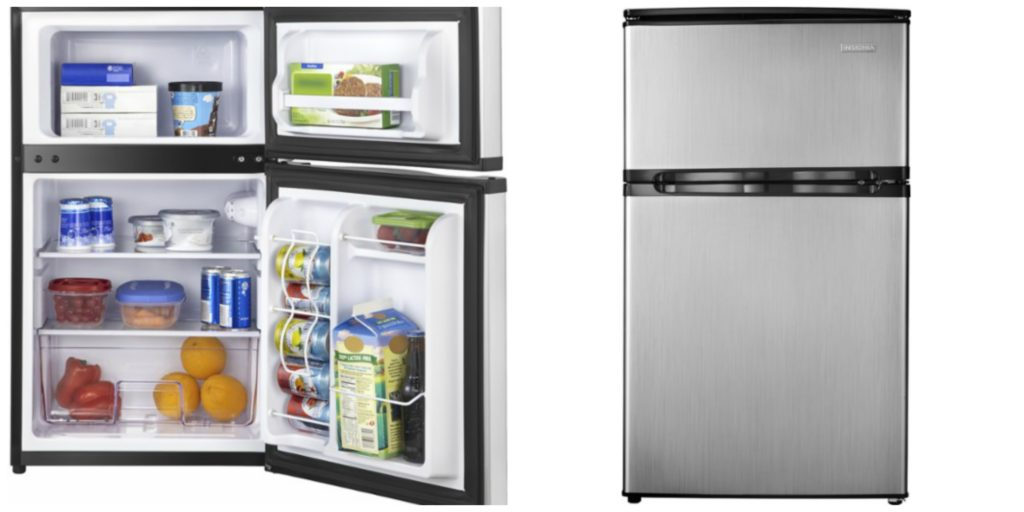 head over to bestbuycom where today only you can get this insignia 30 cu ft mini fridge fingerprint free stainless - Dorm Fridge