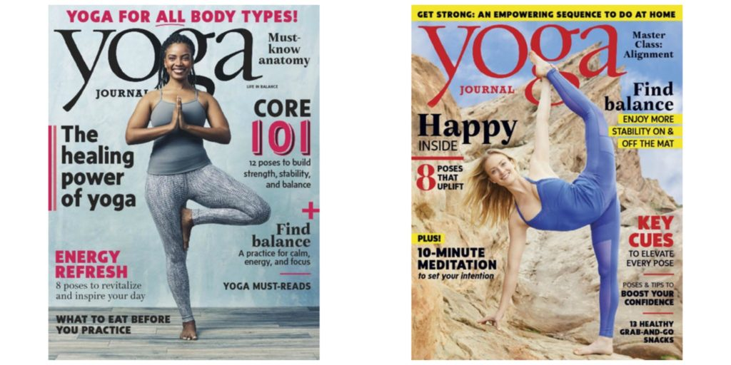 yoga journal magazine just a year savings done simply. Black Bedroom Furniture Sets. Home Design Ideas