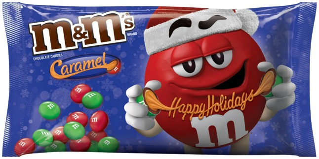 m&m holiday candy