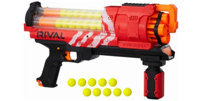 Today only, BestBuy.com is offering 50% off the popular Nerf Rival Basters!  Here are a couple you can choose from: