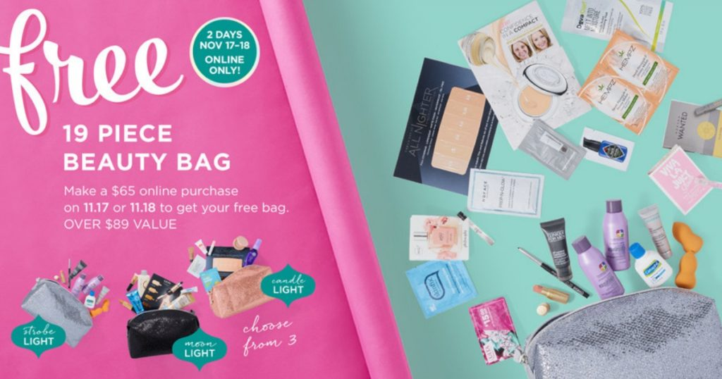 ulta free beauty bag