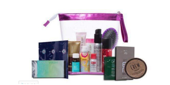 beauty brands try me haircare bag