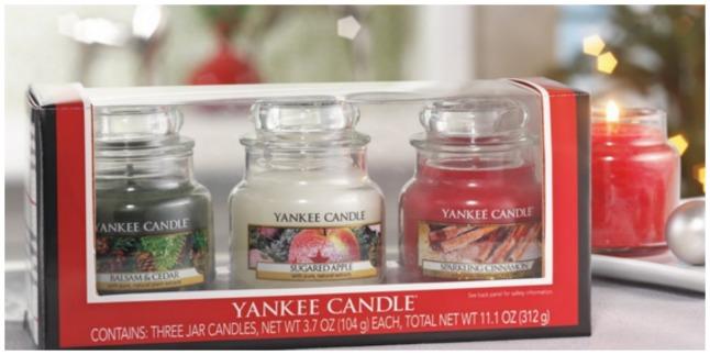 yankee candle trio set