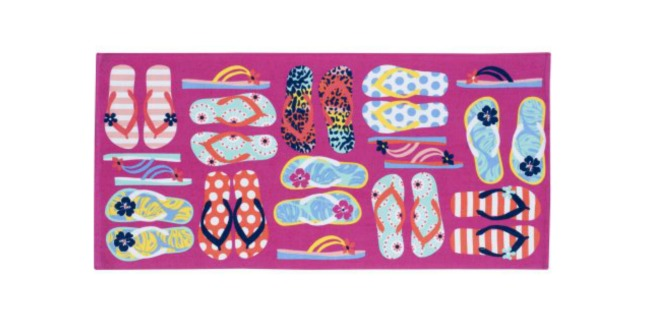 flip flop beach towel