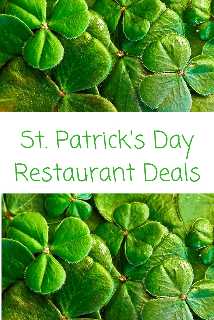 St patrick's day restaurant deals