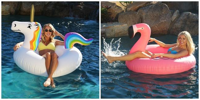 amazon unicorn and flamingo pool floats on sale savings. Black Bedroom Furniture Sets. Home Design Ideas